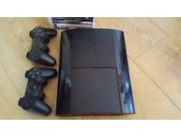 PS3 Slim 500GB + 24 best games + 2 controllers