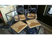 Glass dining table + 4 chairs. £60