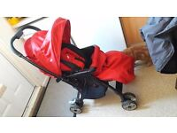 Joie red pushchair