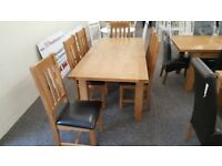 Astoria Extending Oak Dining Table & 6 Astoria Dining By Julian Bowen Can Deliver