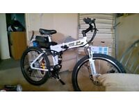Xiongying folding electic bike 250x 10v 36ah, as new used 4 times