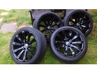 "Bmw 19"" Alloy Wheels 218 OEM Black Stealth concave 60 e61 e64 e65 3 5 6 7 series"
