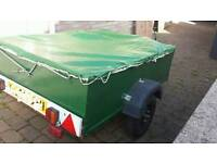 Trailer for car wooden and metal material includes large cover