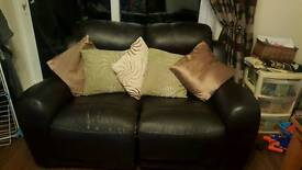 3 and 2 seater recliner Leather Sofa