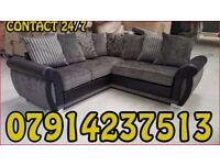 THIS WEEK SPECIAL OFFER SOFA BRAND NEW BLACK & GREY OR BROWN & BEIGE HELIX SOFA SET 8977