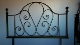 Antique brass headboard for king size bed. Excellent condition. 5ft x 3ft