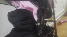 Silvercross Pink Butterfly Pushchair