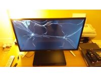 "Sharp LC-32CHE6131K 32"" LED Smart TV w/Freeview HD - Cracked Screen"