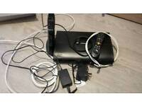 Virgin super hub 2ac plus Samsung tv box and remote and cables