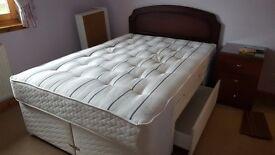 Dark Mahogany Double Bed Headboard