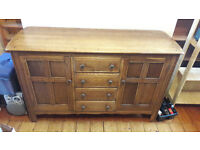 Solid wood sideboard - recently re-polished