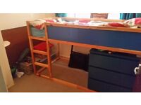 Single Bunk Bed with under space