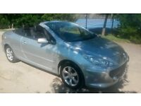 2006 PEUGEOT 307CC hardtop convertible with only 72000 miles and FULL service history