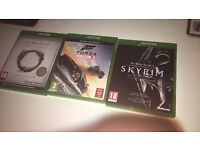 Xbox One Games   Skyrim, Forza Horizon 3 and Elder scrolls Online