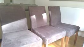6 John Lewis High Quality Fabric Chairs - BARGAIN