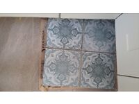 Green decorative ceramic floor/wall tiles
