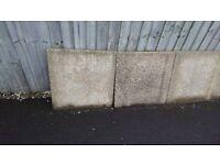 9x Square Paving Slabs for sale (1x slab corner missing) £50 for the lot