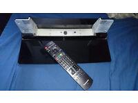 Panasonic gloss black base stand AND remote