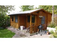 Log Cabin to rent for a short break or used as a stop gap between house moves!