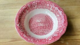'Eton College' Thames River Scenes by Palissy Pottery Red, White Decorative Plate/Bowl