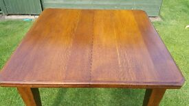 Solid oak Arts and crafts dining room table