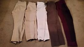 5 pairs equetech jods/breeches size 26""
