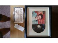 Hmv framed elvis presley jailhouse rock record signed
