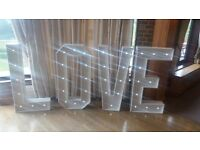 ***4ft LOVE LED Letters for hire in London & Surrey ***