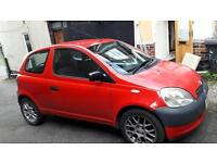 TOYOTA YARIS 1.0 VVT-i / PETROL / MANUAL / 3 DOOR / RED