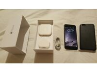 Iphone 6 64 GB Space Grey Factory UNLOCKED SIM FREE Mint condition with offical Leather Apple case