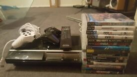 Ps3 x16 games including fifa 18 x2 controllers