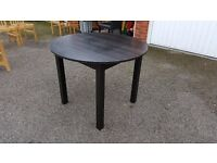 Ikea Black Bjursnas Round Dining Table FREE DELIVERY (02546)