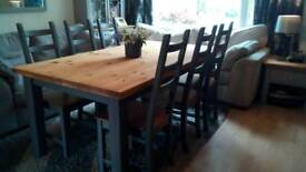 Stunning Christmas Dining Table and 6 Chairs
