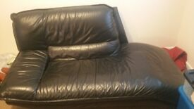 SOFA RELAX ARM CHAIR BLACK LEATHER