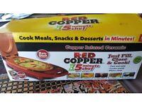 Brand new red copper 5 minute chef