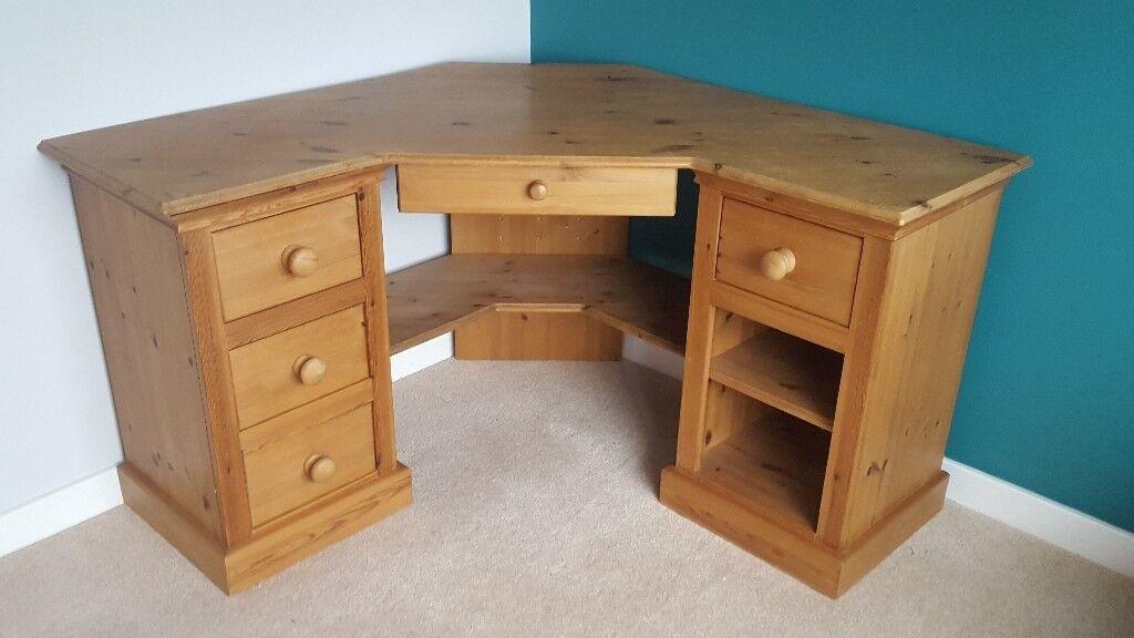 Solid Wood Corner Desk In Balsall Common West Midlands Gumtree