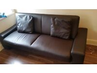 Sofa bed leather very cheap price and clean near ilford lay street