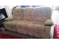 3 seater recliner sofa needs to go!!