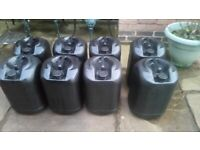 Water Barrels, Drums - 25 Litre, Jet Washing, Greenhouse, Allotment, Diesel, Heating Oil
