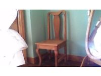 TWO SOLID WOOD STURDY CHAIRS, GREAT CONDITION, SEE ALL ADS AND PICS AS LOTS MORE GREAT ITEMS