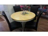 Rround Dinning Table and 4 Chairs