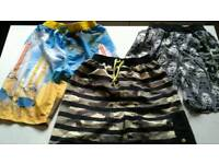 Boys swim shorts bundle , starwars , minions, cammo 12-13