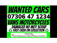 ♻️ WANTED ANY CAR VAN CASH WAITING ANY CONDITION SCRAP MY SELL YOUR FAST