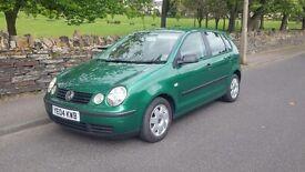 Volkswagen Polo 1.2 Twist 29,400 genuine miles . 2004 green Five doors.