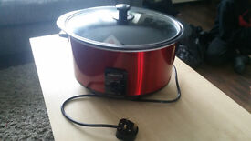 Murphy Richards Red Sear and Stew Slow Cooker