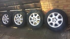 """16"""" Mercedes S Class W220 Alloy Wheels + Tyres_Other car parts available"""
