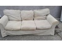 Ikea 3 seat sofa and chair