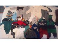Baby boy clothes 0-3 months 30 piece job lot