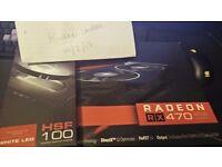 XFX Black Edition RX 470 + White LED Fans