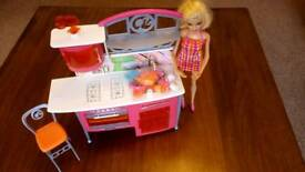 Barbie kitchen play set ...